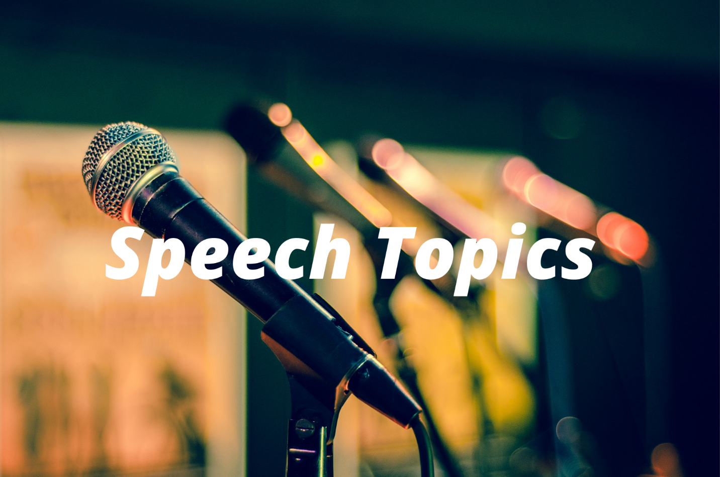 special occasion speech topics and ideas