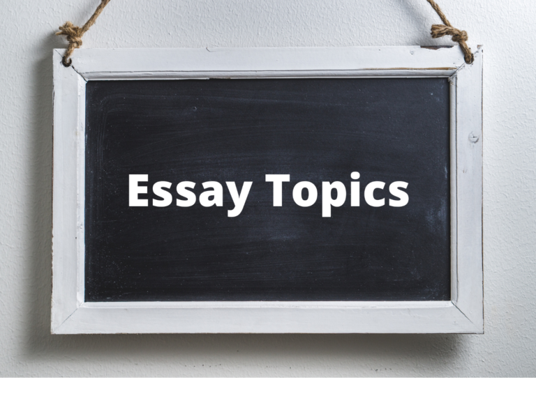 Essay Writing Topics About Anything